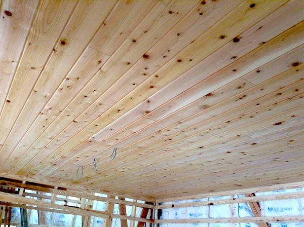 キッチン天井椹無垢