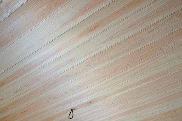 天井ヒノキ羽目板