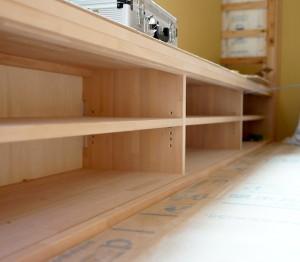 AVボードは造作家具で北欧っぽくなるといいな。