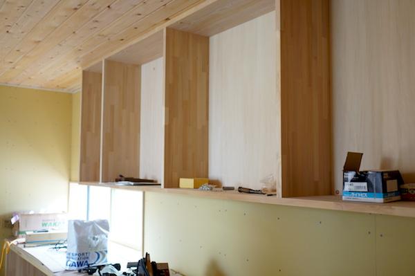 造作家具 キッチン背面収納1