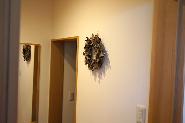 玄関飾りフラワーリース