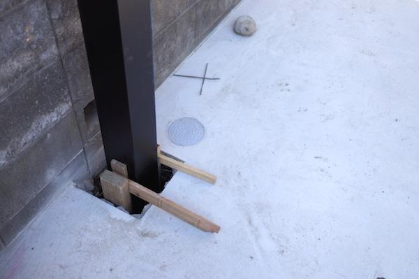 カーポート柱安定