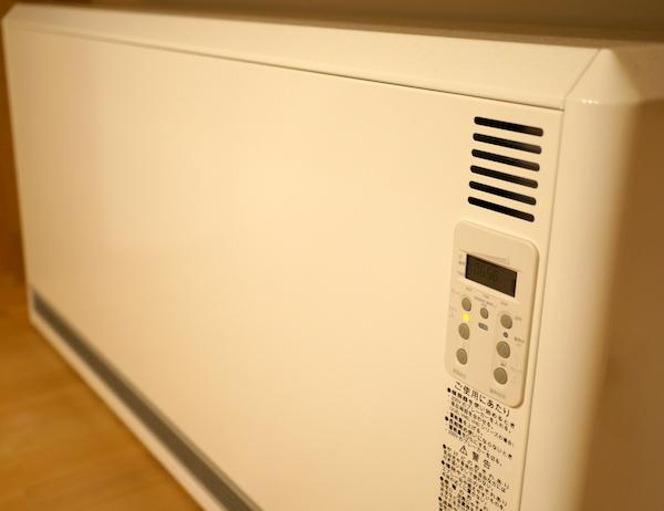 ユニデールの蓄熱暖房機が暖かい!使い方簡単だけど電気代が気になる。